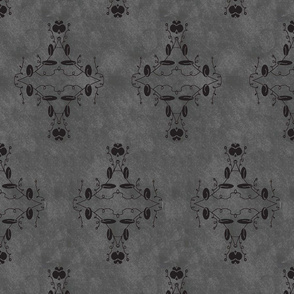 Gray and Black Grunge Damask