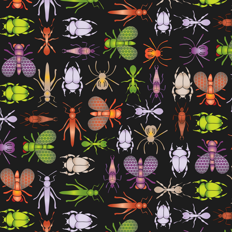 Critters come out at night fabric by ebygomm on Spoonflower - custom fabric
