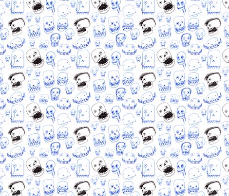 Silly Skulls fabric by giantpeanut on Spoonflower - custom fabric