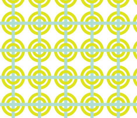lime mod circles fabric by fable_design on Spoonflower - custom fabric