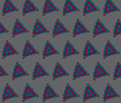 twisty gray triangles fabric by dnbmama on Spoonflower - custom fabric