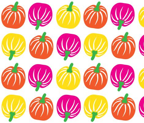 pumpkin fabric by lene_bomholt on Spoonflower - custom fabric