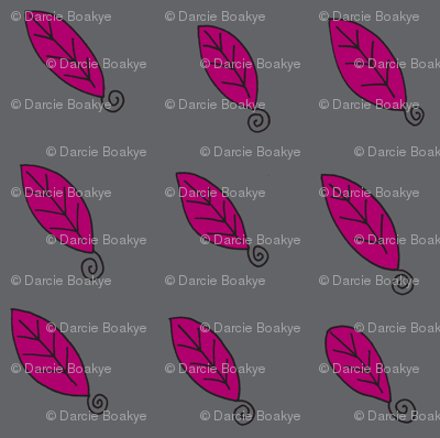 plum gray  leaves
