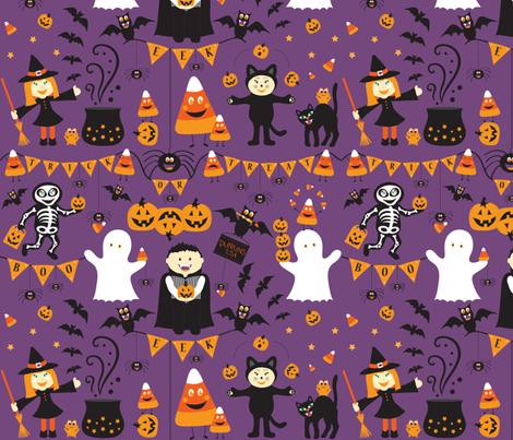 Creepy Crawly Halloween fabric by jenniferfranklin on Spoonflower - custom fabric