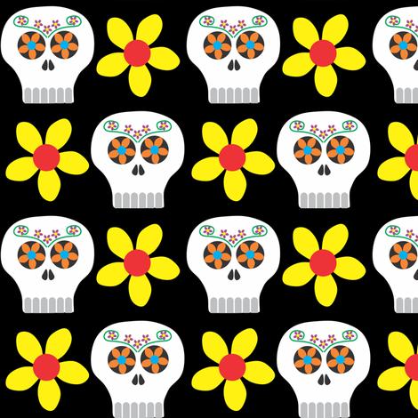 Day of the Deadhead (colour) fabric by bippidiiboppidii on Spoonflower - custom fabric