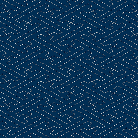 Sashiko: Sayagata - Interlocked Manji fabric by bonnie_phantasm on Spoonflower - custom fabric