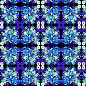 funky blue floral