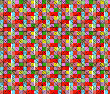 Stained Glass Checkerboard fabric by boris_thumbkin on Spoonflower - custom fabric