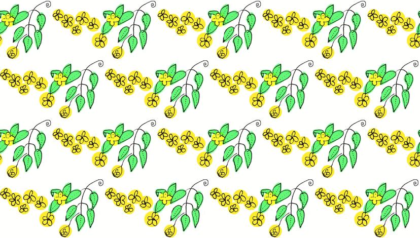 Yellow Flowers fabric by boris_thumbkin on Spoonflower - custom fabric