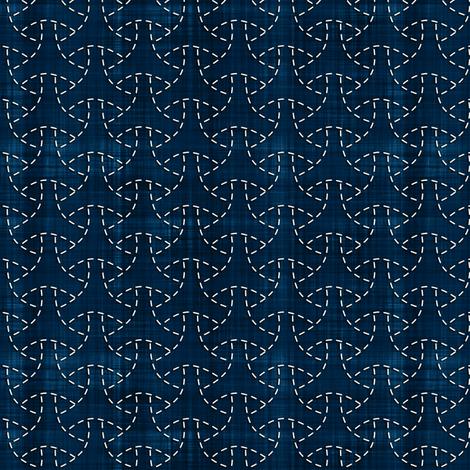 Sashiko: Maru-bishamon - Turtle shell fabric by bonnie_phantasm on Spoonflower - custom fabric