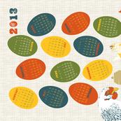 2013 Chickens Tea Towel