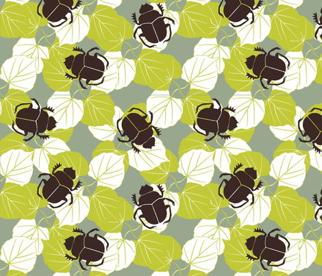 Scarab fabric by designedtoat on Spoonflower - custom fabric