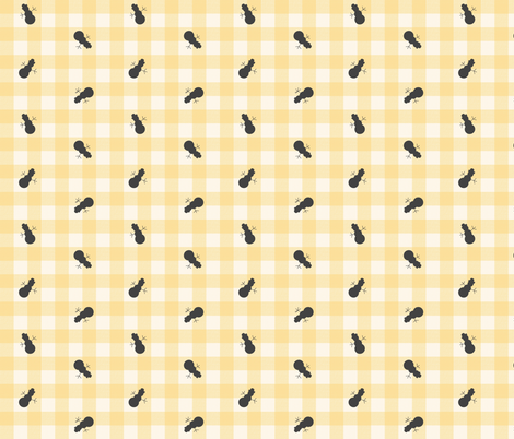 snowman gingham 3 fabric by mojiarts on Spoonflower - custom fabric