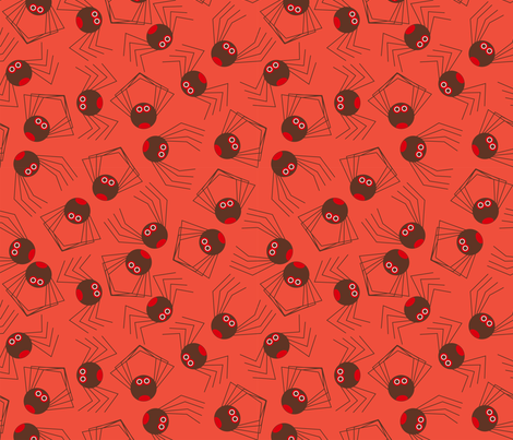 Crunchy chocolate spiders fabric by cjldesigns on Spoonflower - custom fabric