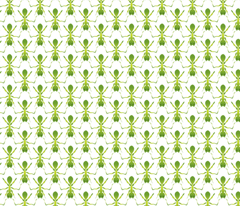 Here come the green ants fabric by ebygomm on Spoonflower - custom fabric
