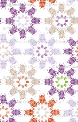 Multi coloured bug flowers