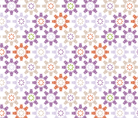 Multi coloured bug flowers fabric by ebygomm on Spoonflower - custom fabric