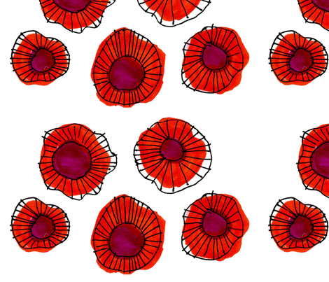 Flower pattern fabric by elizabethgraeber on Spoonflower - custom fabric