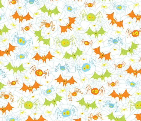 Crawling Flying Creepies fabric by jennartdesigns on Spoonflower - custom fabric