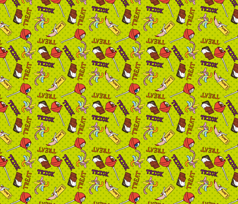 Tricky Treats fabric by pi-ratical on Spoonflower - custom fabric