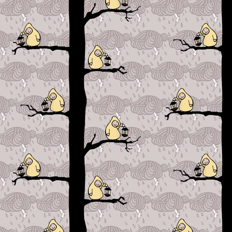 Lots of Lanterns in the Trees fabric by pond_ripple on Spoonflower - custom fabric