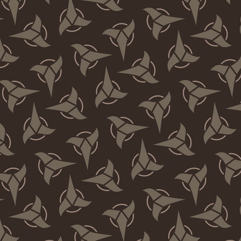 Klingon - Brown, Medium fabric by meglish on Spoonflower - custom fabric