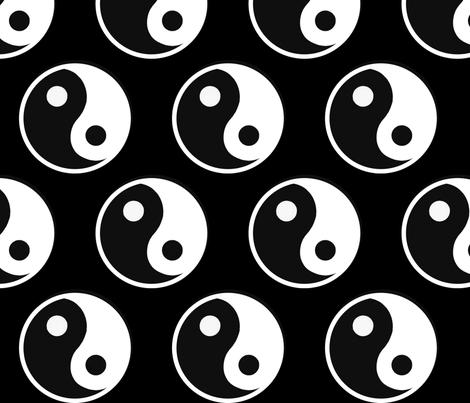 Yin Yang  fabric by lindseyisaacs9 on Spoonflower - custom fabric