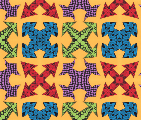 Tangled Arrows fabric by katiame on Spoonflower - custom fabric