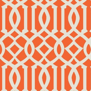 Imperial Trellis-Orange