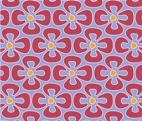 pink_Flower_Power fabric by adrianne_nicole on Spoonflower - custom fabric