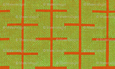 Yarrow stix - Lime green and terra-cotta orange