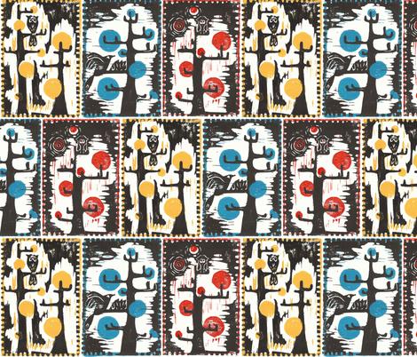 Birds & Trees fabric by lauralvarez on Spoonflower - custom fabric