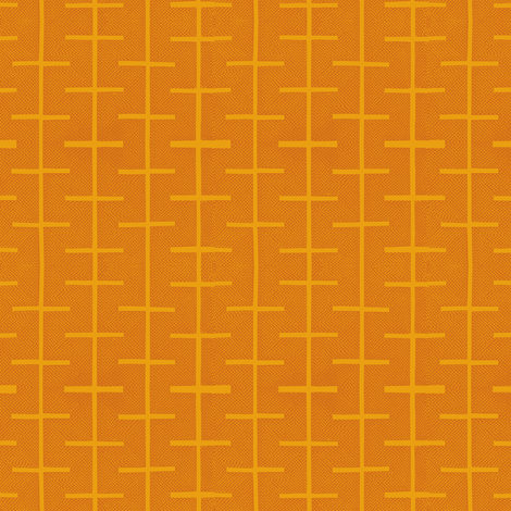 Yarrow stix -  curry and melon fabric by materialsgirl on Spoonflower - custom fabric