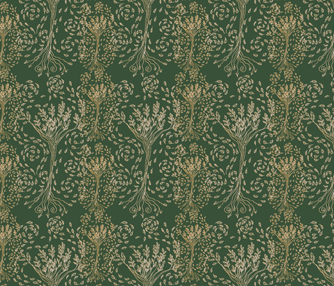Golden Tree fabric by wiccked on Spoonflower - custom fabric