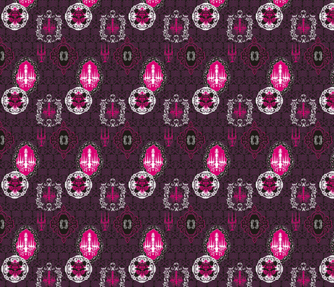Black Chandelier fabric by lauralvarez on Spoonflower - custom fabric