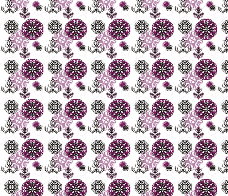 White chandelier fabric by lauralvarez on Spoonflower - custom fabric