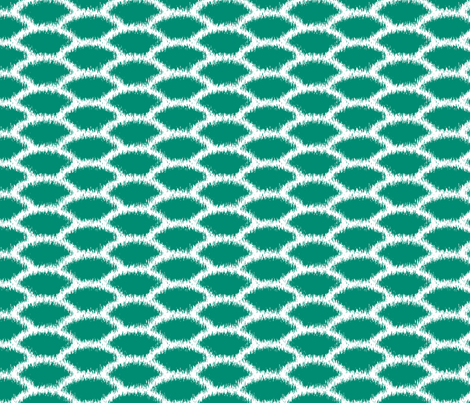 Emerald scallop fabric by pearl&phire on Spoonflower - custom fabric