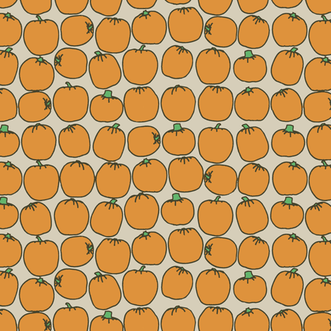 My Pumpkin Patch fabric by horn&ivory on Spoonflower - custom fabric