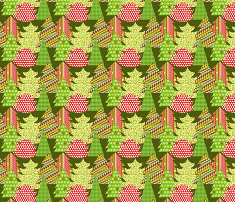 Christmas trees fabric by lauralvarez on Spoonflower - custom fabric