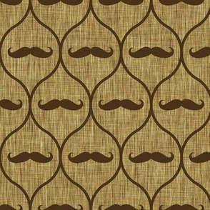 Mustache wallpaper burlap