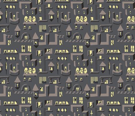 Spider Castle fabric by mongiesama on Spoonflower - custom fabric