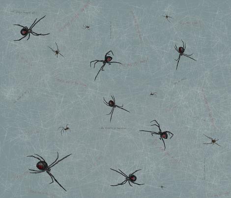 Bondage Spiders fabric by glindabunny on Spoonflower - custom fabric