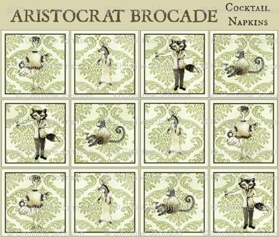 Aristocrat  Brocade / cocktail napkins