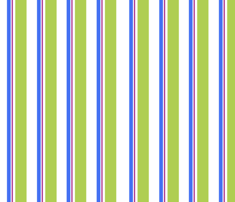 Blue green stripe fabric by mollymacliving on Spoonflower - custom fabric