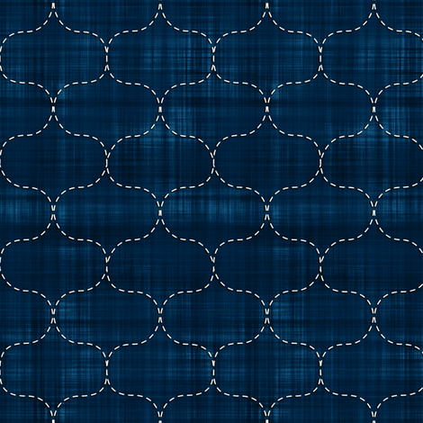 Sashiko: Hoshi-Ami - Fish Net fabric by bonnie_phantasm on Spoonflower - custom fabric