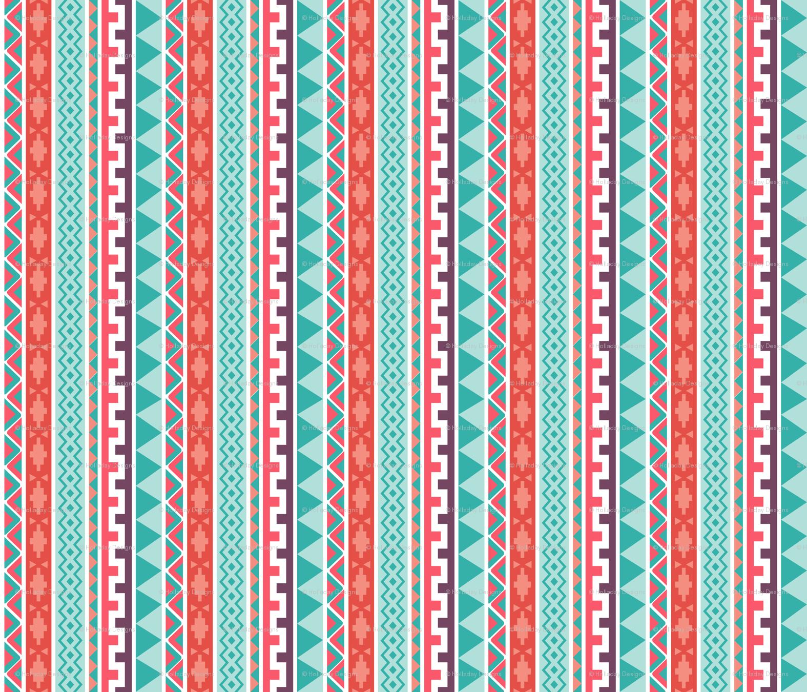 Tribal Pattern Wallpaper Holladaydesigns Spoonflower