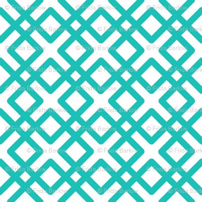 Modern Weave in Turquoise or Aqua