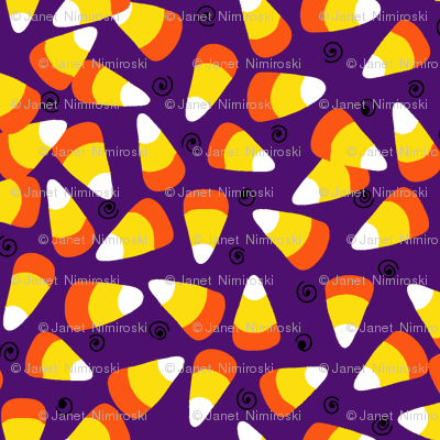 candy corn dark purple