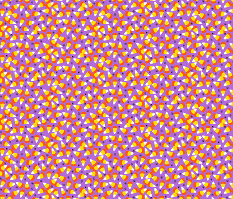 candy corn light purple fabric by beebumble on Spoonflower - custom fabric