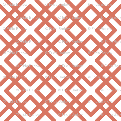 Weave in Salmon / Coral / Tuscany